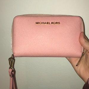 Michael Kors Pink Wristlet